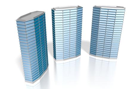 3D office buildings Stock fotó