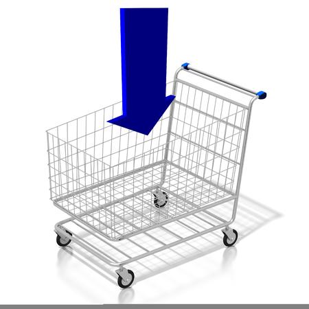 3D add to cart concept Banco de Imagens