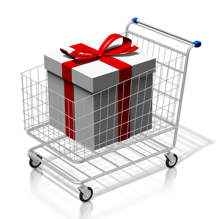 3D gift in shopping cart