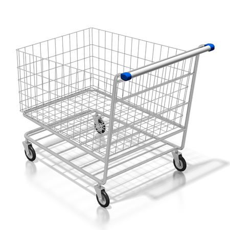 3D empty shopping cart