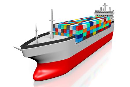 3D cargo vessel