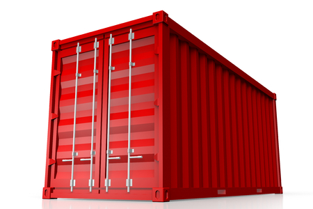 3D cargo container Stock Photo