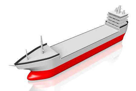 3 D の貨物船 写真素材