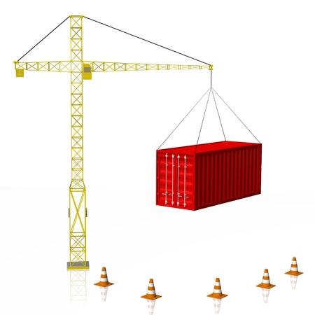 3D crane, container