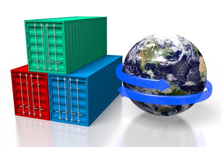 3D cargo transport concept Stock Photo