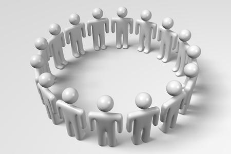 3D equality concept Stok Fotoğraf