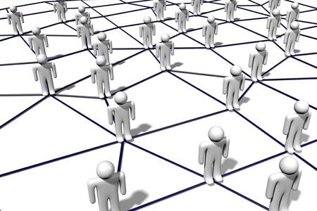 3 D の社会的ネットワークの概念
