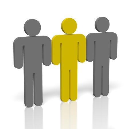 Menselijke hulpbronnen concept Stockfoto