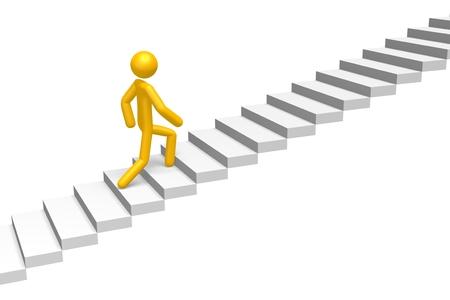 Concepto de escaleras 3D Foto de archivo - 78072756