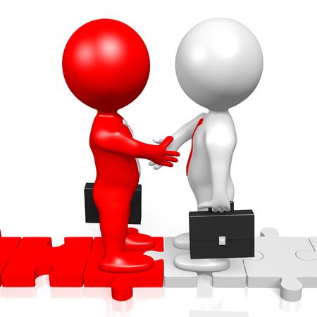 3D handshake concept