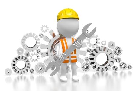 3D construction worker