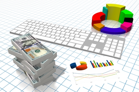 3D business chart