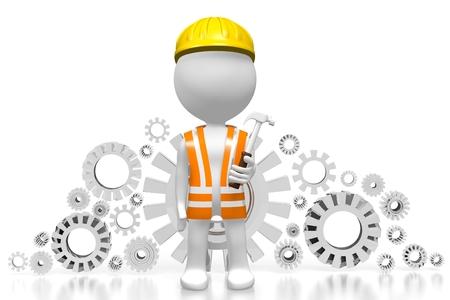 3D Bauarbeiter Standard-Bild