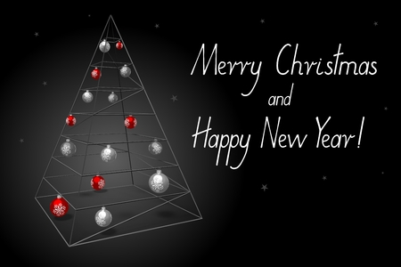 Christmas card - Merry Christmas and Happy New Year!