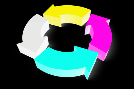 CMYK concept