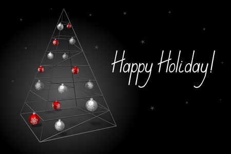 3D Christmas card - Happy Holiday!