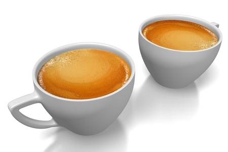 cappucino: Coffee cups Stock Photo