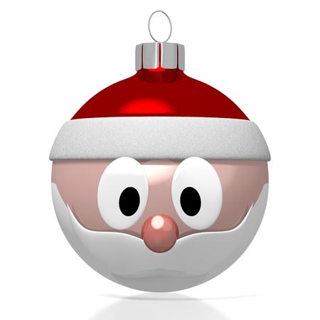3D Weihnachtsmann bauble Standard-Bild - 78620254
