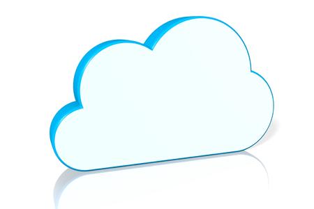 3D cloud computing-concept Stockfoto