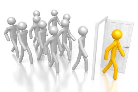 outsource: 3D outsource concept