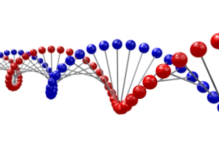 DNA chain Stock Photo