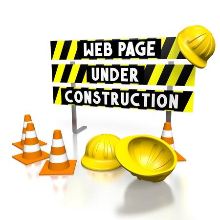 3D web page under construction