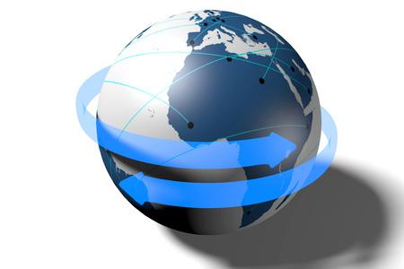 3D Earth world concept Stock Photo