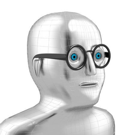 3D man with glasses