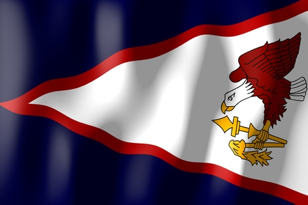 samoa: American Samoa - flag