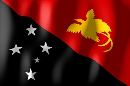Papua New Guinea - flag Stock Photo