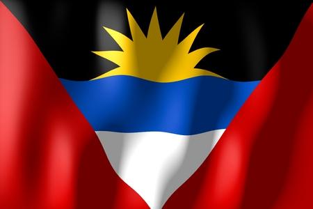 antigua and barbuda: Antigua and Barbuda - flag Stock Photo