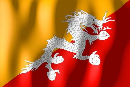 bhutan: Bhutan - flag Stock Photo