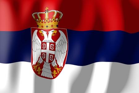 Serbia - flag Imagens