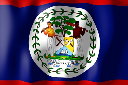 belize: Belize - flag Stock Photo