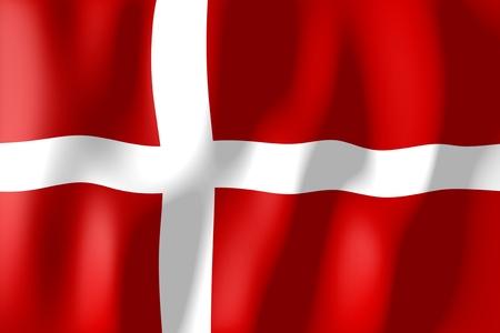 Denemarken - vlag Stockfoto