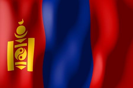 Mongolia - flag Reklamní fotografie