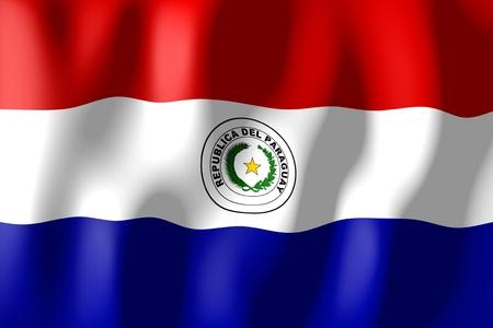 paraguay: Paraguay - flag Stock Photo
