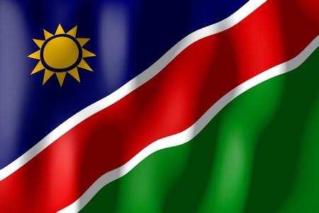 ナミビアの国旗 写真素材