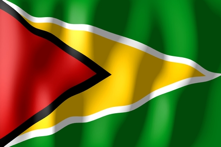 guyana: Guyana - flag Stock Photo
