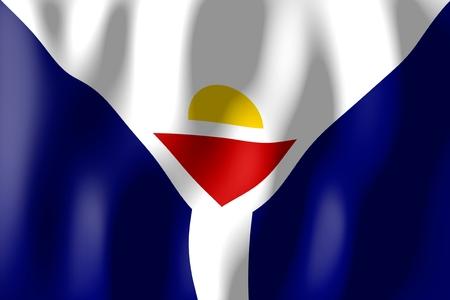 saint martin: Saint Martin - flag Stock Photo