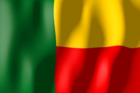 benin: Benin - flag Stock Photo