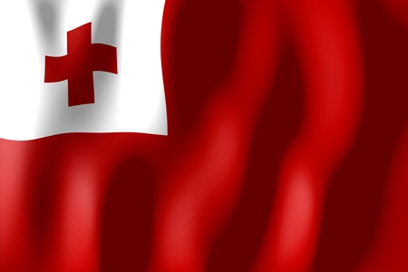tonga: Tonga - flag Stock Photo