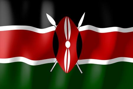 kenya: Kenya - flag Stock Photo