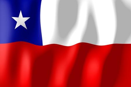 Chili - vlag Stockfoto