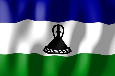 lesotho: Lesotho - flag Stock Photo