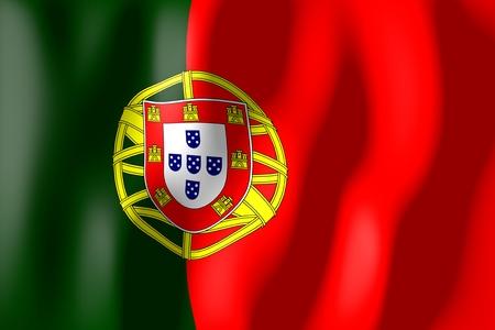 bandera de portugal: Portugal - bandera Foto de archivo
