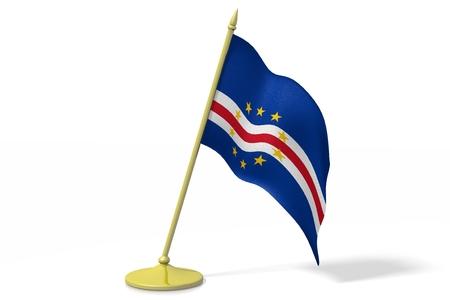 3D flag of Cape Verde Stock Photo
