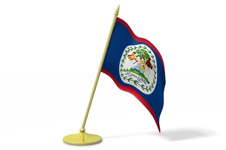 belize: 3D flag of Belize