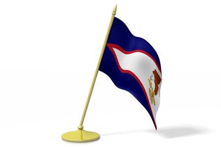 3D flag of American Samoa Stock Photo