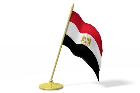 3D flag of Egypt Stock Photo